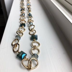 NWT Talbots Link Necklace w/Bead Accents
